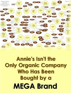 Annie's Isn't the Only Organic Company Who Has Been Bought by a Mega Brand. Do you know who owns #organic?