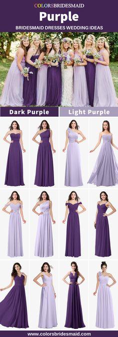 09a45f329298 25 Best Dark purple bridesmaid dresses images | Wedding dressses ...