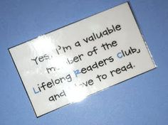 Cute end of year gift to students.  Maybe with a book? Bookmark?