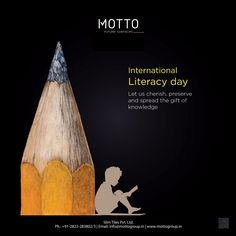 Let us cherish, preserve and spread the gift of knowledge International Literacy Day! Ads Creative, Creative Posters, Creative Advertising, International Literacy Day, International Days, World Literacy Day, Pattern Design, Print Design, Pakistan Day