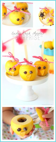 """Easter Chick Apples """"Surprise"""" 