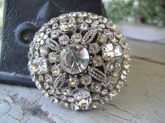 Vintage Rhinestone Brooch by mimiyaya on Etsy, $38.00