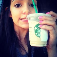 Beth with her Starbucks ♡