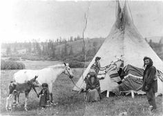 Nez Perce family - circa 1889