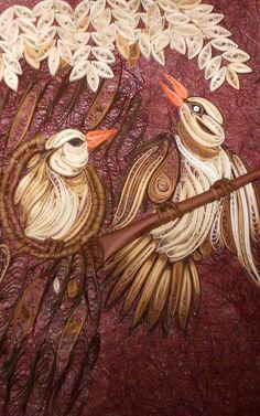 quilled bird - Crafts by Ramanjeet Jagdev in My Scrapbook at touchtalent
