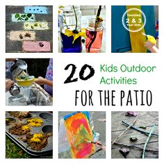 Here are 20 kids outdoor activities that can be done on the patio! Small outdoor space? No problem!