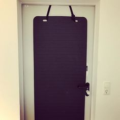 """Quick hack for door protection: if you are worried about you or your client's door while doing #slingtraining you can use our """"aerobis Door Anchor"""" with any #yogamat that has two suspension holes. Mount it additionally to your #suspensiontrainer over the door. Our door anchor is height adjustable, so it should fit any combination of door and #slingtrainer. *See bio for link and search """"door anchor""""*"""