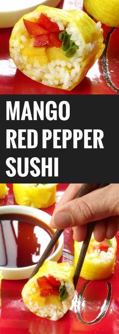 Mango Red Pepper Sushi   Sushi 101: Learning to Eat and Make Sushi
