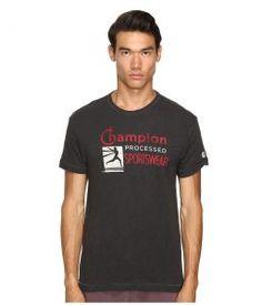 Todd Snyder + Champion Champion Processed Sportswear T-Shirt (Faded Black) Men's T Shirt