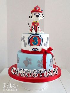 15 Fabulous Paw Patrol Birthday Cake Ideas with Amazing Pictures Paw Patrol Birthday Cake, 3rd Birthday Cakes, Paw Patrol Party, 2nd Birthday Parties, Boy Birthday, Birthday Ideas, Bolo Do Paw Patrol, Torta Paw Patrol, Paw Patrol Cupcakes