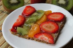 "Fruit ""Pizza"" with a Nut Crust"