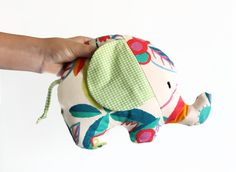 handmade Elephant soft toy FRIDOLIN Animal cushion baby gift by Sunchildsews on Etsy, €15.00 so adorable!