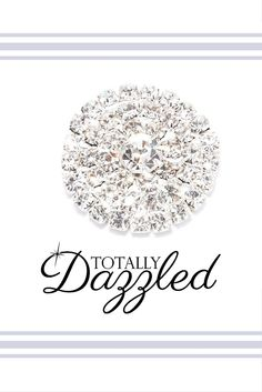 Beautiful rhinestone covered gold embellishment only $1.25! Use them to add some sparkle to your next special event! You can even get them in gold and as napkin rings! Visit totallydazzled.com and take a look at our wide variety of rhinestone products. We promise to dazzle you!