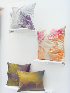 silk screen printed cushions