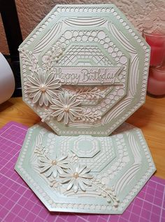 Chloes Creative Cards, Hexagon Cards, Spellbinders Cards, Birthday Cards For Women, Scrapbooking, Step Cards, Shaped Cards, Square Card, Cricut Cards