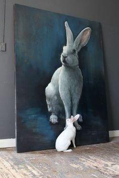 rabbits kaninchen art painting home deco schilderijen Nanouk Weijnen Lapin Art, Rabbit Art, Bunny Art, Pics Art, Art Pictures, Photos, Animal Paintings, Pet Portraits, Painting Inspiration