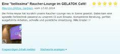 """#Rostoptik in einer Eisdiele ausgeführt.   Eine """"bellissima"""" Raucher-Lounge im GELATOK Café!"""