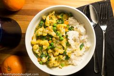 Red Lentil, Cauliflower and Kale Coconut Curry