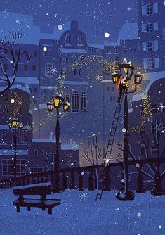 Illustration Noel, Winter Illustration, Christmas Illustration, Christmas Mood, Xmas, Winter Art, Christmas Aesthetic, Christmas Wallpaper, Whimsical Art