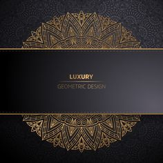 Luxury ornamental mandala design background in gold color Free Vector Mandala Design, Mandala Pattern, Pattern Art, Pattern Flower, Creative Poster Design, Creative Posters, Wallpaper Co, Detroit Wallpaper, Wallpaper Designs