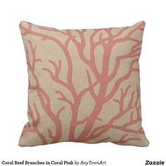Coral Reef Branches in Coral Pink