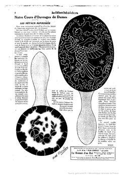 """Les Metaux Repousses. Notre Cours D'Ouvrages de Dames. Les Dimanches de la femme : supplément de la """"Mode du jour""""   1923/04/08 (A2,N57)."""
