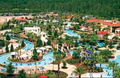 The lazy river at Orange Lake Resorts! Already have our tubes purchased-- so looking forward to relaxing here!