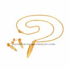 juego de bala en oro dorado de acero SSNEG47982