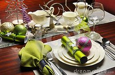 Stylish Christmas Eve Dinner Table Setting