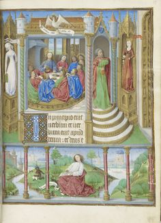 Synagoga and Ecclesia Flank the Last Supper Synagoga (Judaism) and Ecclesia (Church) Flank the Last Supper, from a Book of Hours, Paris use, in Latin and French Northeastern France or Paris, ca. 1465 Illuminated by the Master of Jacques de Luxembourg The Morgan Library & Museum, New York; MS M.1003, fol. 13 Gift of Mr. and Mrs. Landon K. Thorne, Jr., 1979 Photography: Graham S. Haber