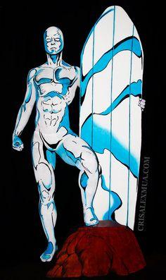 Body painting du surfeur dargent par Chris Alex   body painting du surfeur d argent chris alex 1