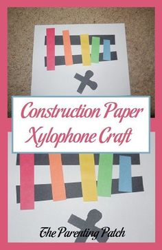 Popsicle stick xylophone for the classroom pinterest x is for xylophone for a fun craft idea to reinforce the letter xx ccuart Image collections