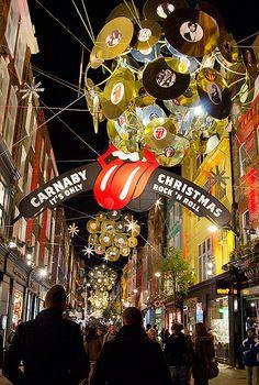 Carnaby Street, London, Christmas