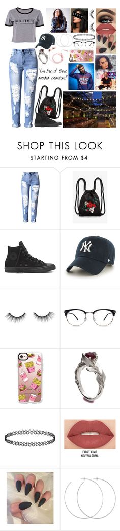 """birthday dinner 🌺 j.t. 🌺"" by lostboyys ❤ liked on Polyvore featuring Monki, '47 Brand, tarte, Casetify, Smashbox and Allison Bryan"