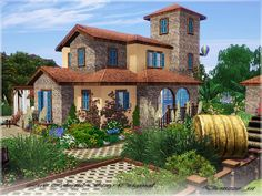 Country house for your sims / The Sims 3 downloads | For more daily Sims 3 & 4 pins follow http://www.pinterest.com/itsallpretty/the-sims-3-4/