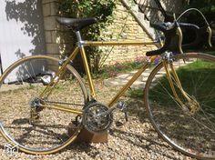 Vélo Alan anodisé , simplex gold, clb titanium Bicycle, Gold, Bicycles, Italia, Bike, Bicycle Kick, Yellow