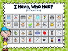 """Your students will have loads of fun playing this """"I Have, Who Has"""" CVCe game!"""