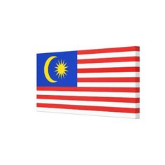 Flag of Malaysia Jalur Gemilang Canvas Print - stripes gifts cyo unique style