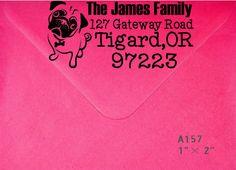 Cute dog return address stamp Kitself inking by Evergreenstamps