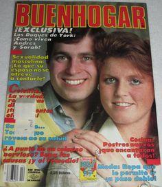 """BUENHOGAR Year 22, No 14, June 30, 1987 """"Exclusiva: Los Duques de York: Como viven Andres y Sarah"""""""