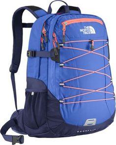 The North Face Women's Borealis Laptop Backpack Coastline Blue/Electro Coral Orange - via eBags.com!