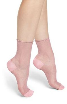 Add a little shimmer to your step with semi-sheer ankle socks perfect for bringing a fun pop of color to your ensemble. Knee High Stockings, Sexy Stockings, Pop Socks, Sexy Socks, Happy Socks, Designer Socks, Fashion Socks, Ankle Socks, Heeled Mules