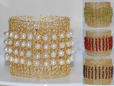 June Birthstone Crochet Wire Bracelet Hand by MyasCreations, $89.99