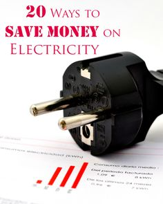 20 Ways to Save Money on Electricity - these tips helped me cut costs on my power bill!