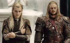Legolas and Eomer. It's just too much for one geek to handle! <3