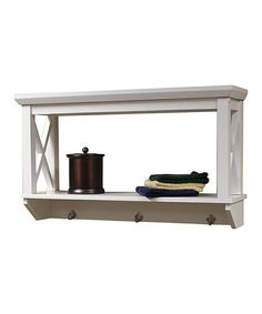 Look at this #zulilyfind! White X-Frame Wall Shelf by River Ridge #zulilyfinds