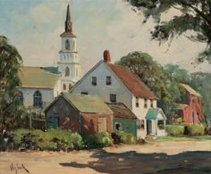 """""""Sunday Morning, Rockport,"""" Otis Pierce Cook, Jr., oil on canvas, 20 x 24"""", private collection."""