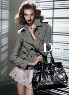 The Look: Lauren Bacall - Karlie Kloss by Steve Meisel for Dior's Spring/Summer 2010 ad campaign