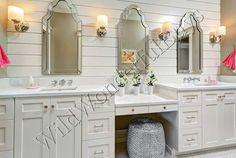 "Set 2 Frameless Arched Wall Mirror 44"" Venetian Vanity Bath Foyer Modern Pair #Unbranded #Contemporary"