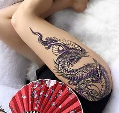 Hot Dragon Tattoos For Girls dragon tattoo for women Arrow Tattoo, 1 Tattoo, Piercing Tattoo, Back Tattoo, Body Art Tattoos, Girl Tattoos, Sleeve Tattoos, Thigh Tattoos, Piercings